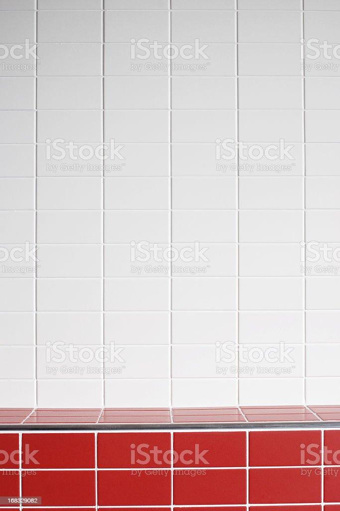 White tile wall texture background royalty-free stock photo