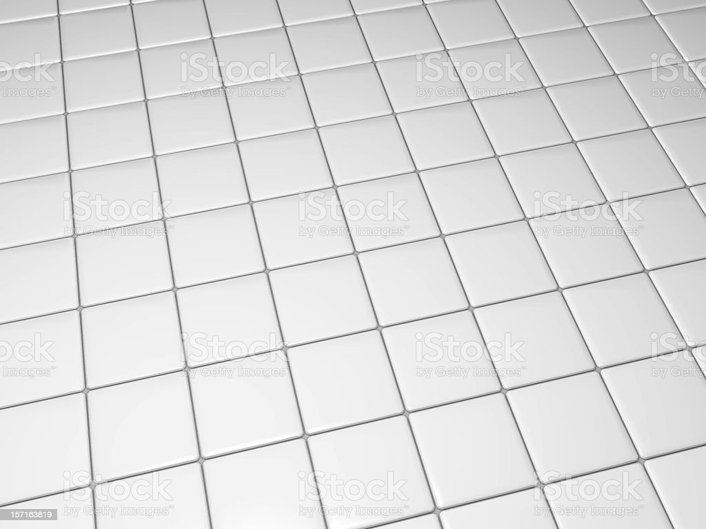 White tiled floor from an angle royalty-free stock photo