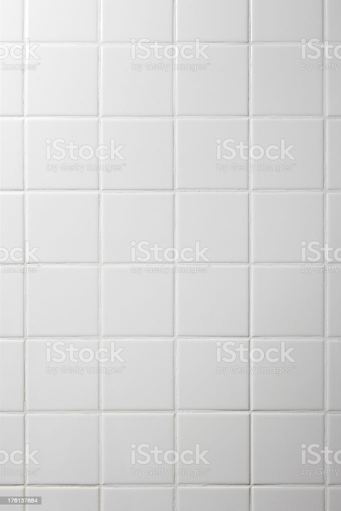 White Tiled Wall royalty-free stock photo