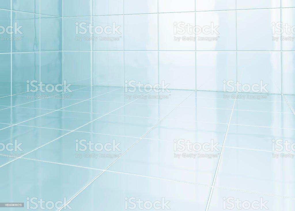 White tiles in bathroom stock photo