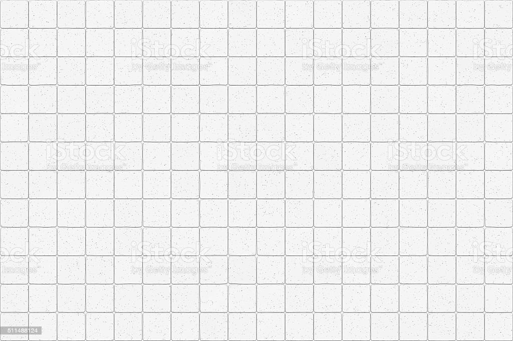 White tiles wall background stock photo