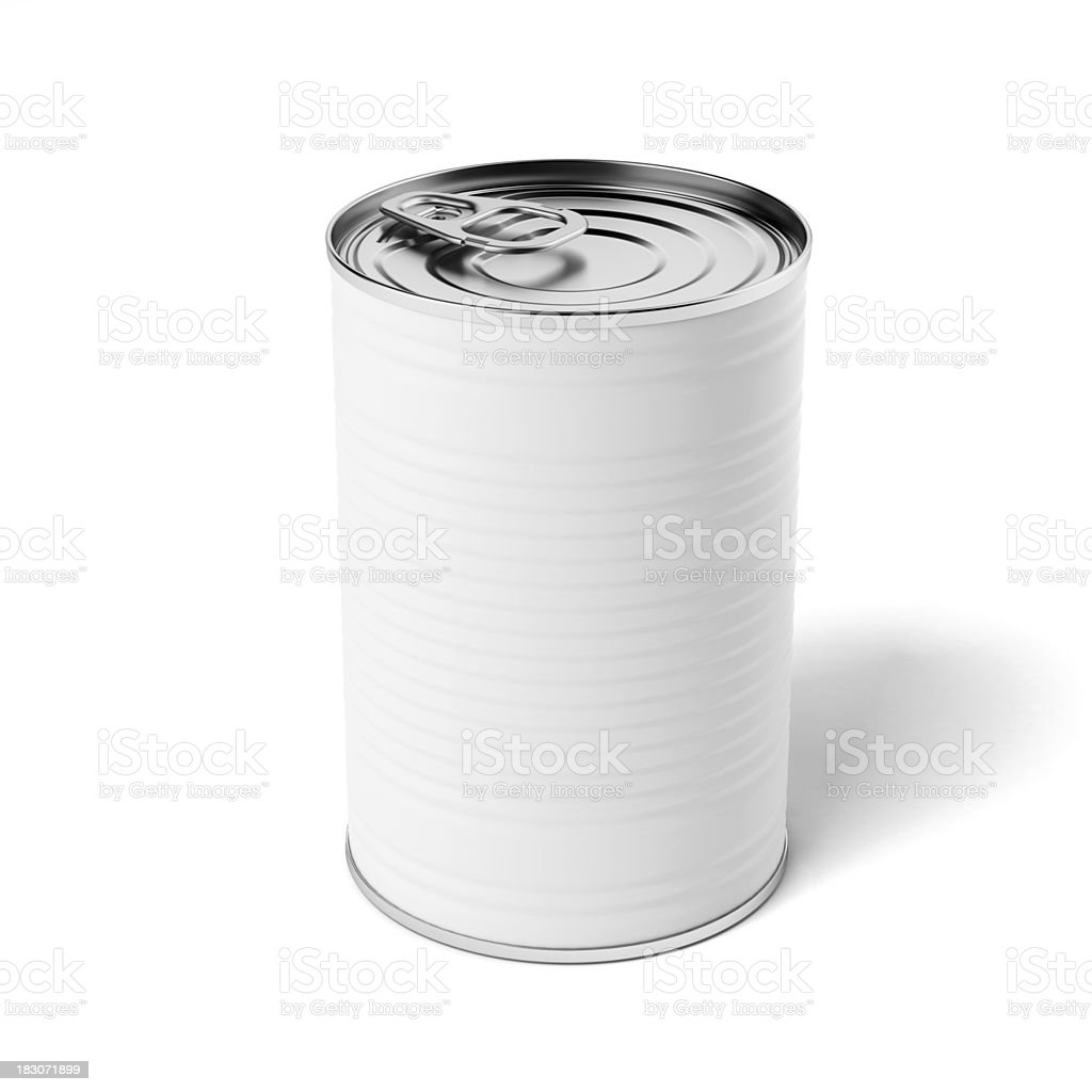 White tin can stock photo