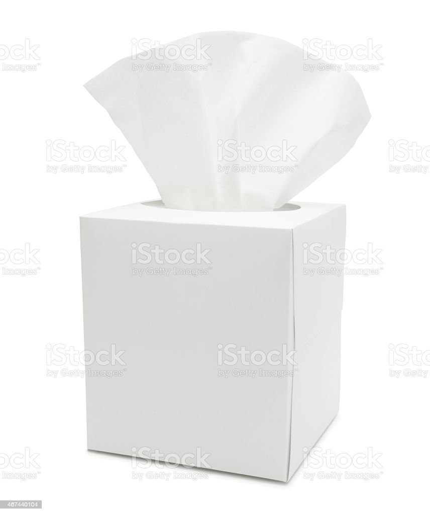 White Tissue Paper Box (with path) stock photo