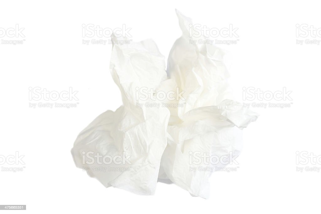 white tissue stock photo
