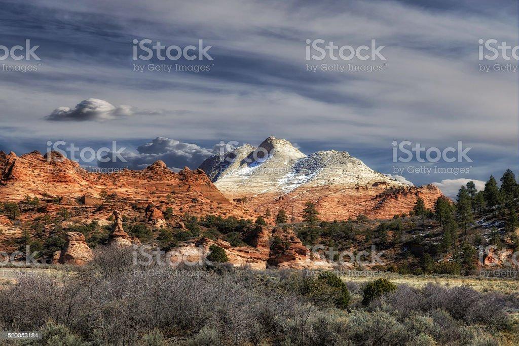 White to Orange Country stock photo