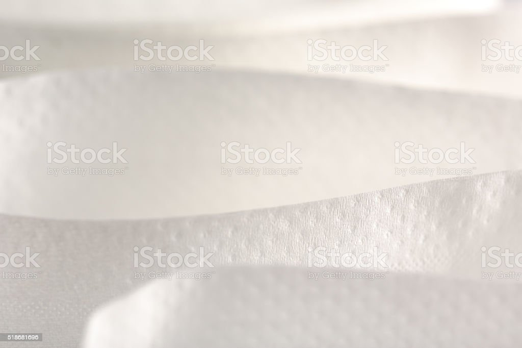White toilet paper in closeup stock photo