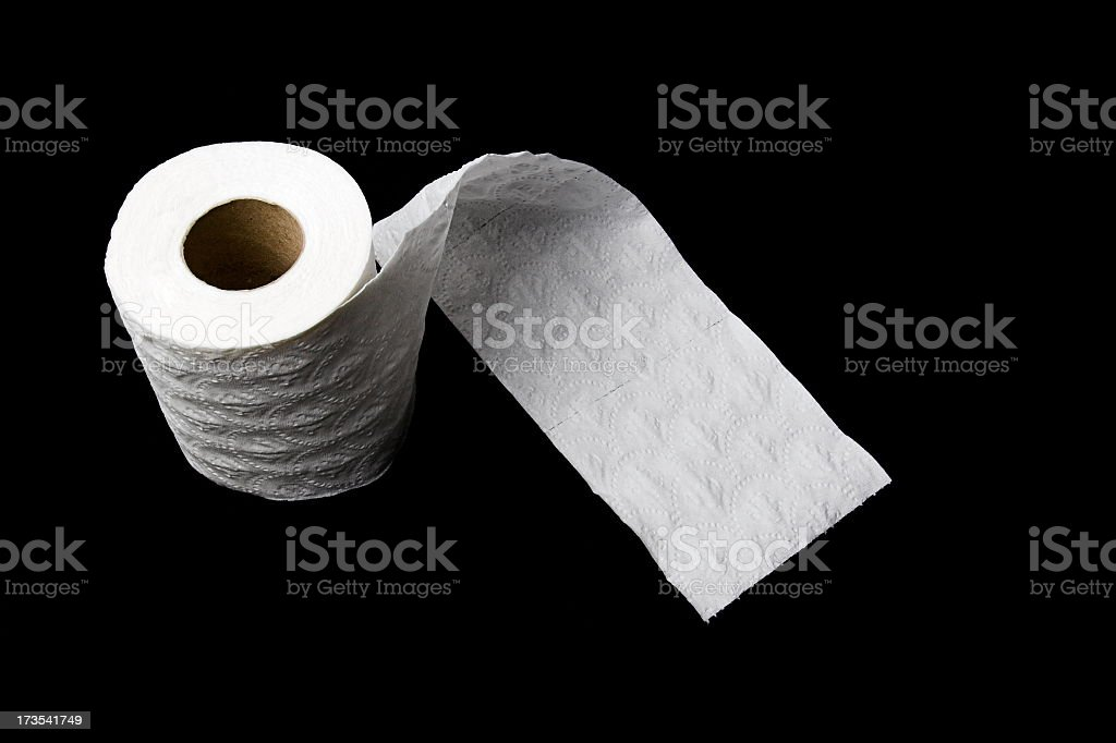 White Toilet Paper royalty-free stock photo