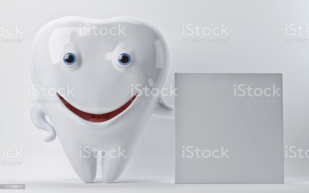 White tooth royalty-free stock vector art