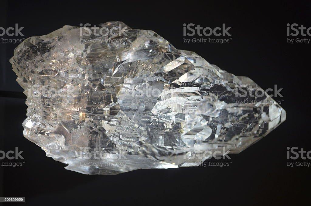 White Topaz Crystal Macro royalty-free stock photo