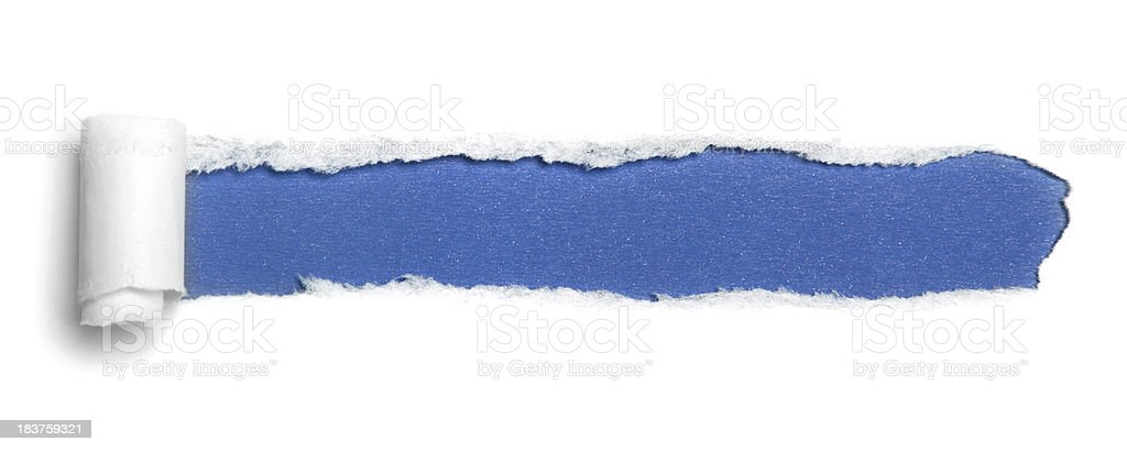 White torn paper stock photo