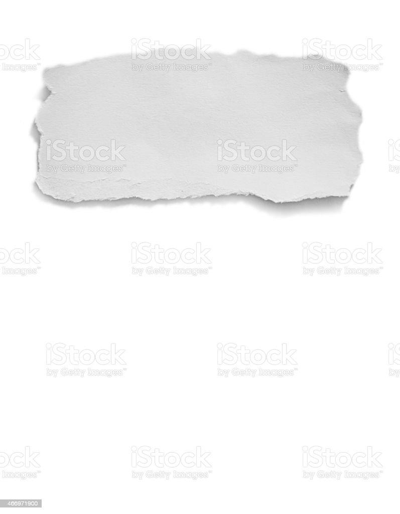 white torn paper stock photo