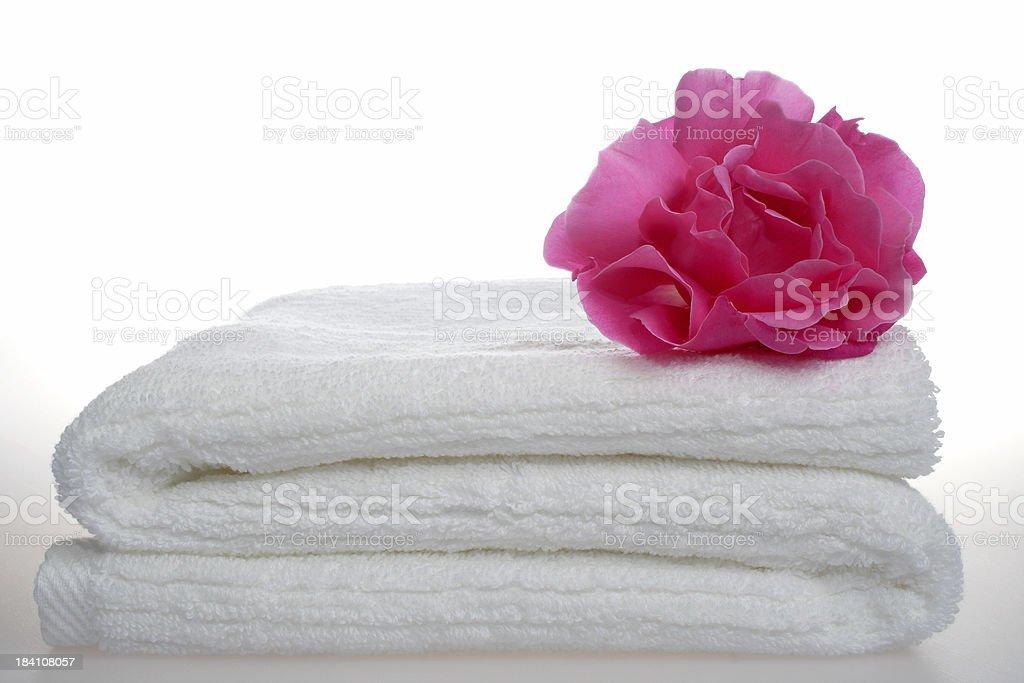 white towel aromatherapy royalty-free stock photo