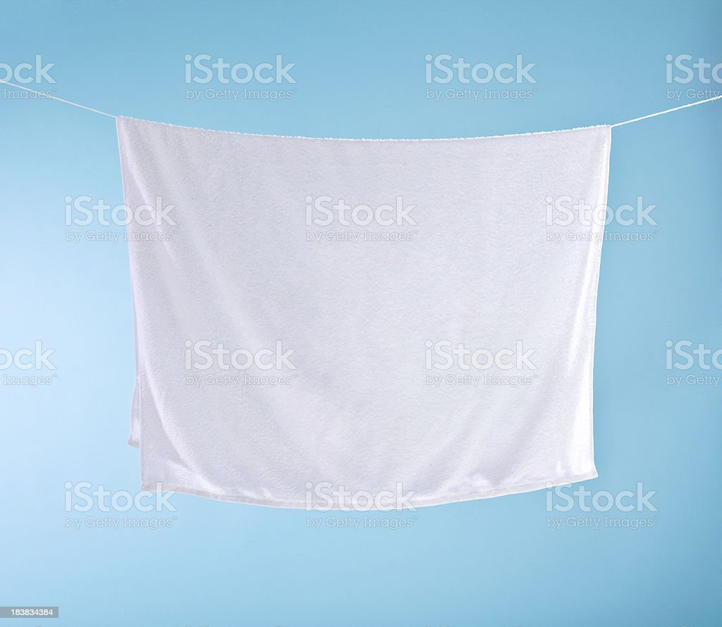 White towel stock photo