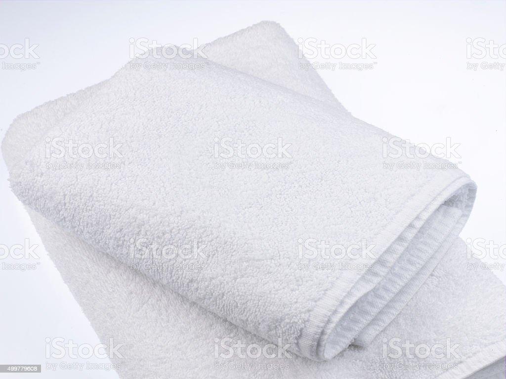 White Towel stock photo