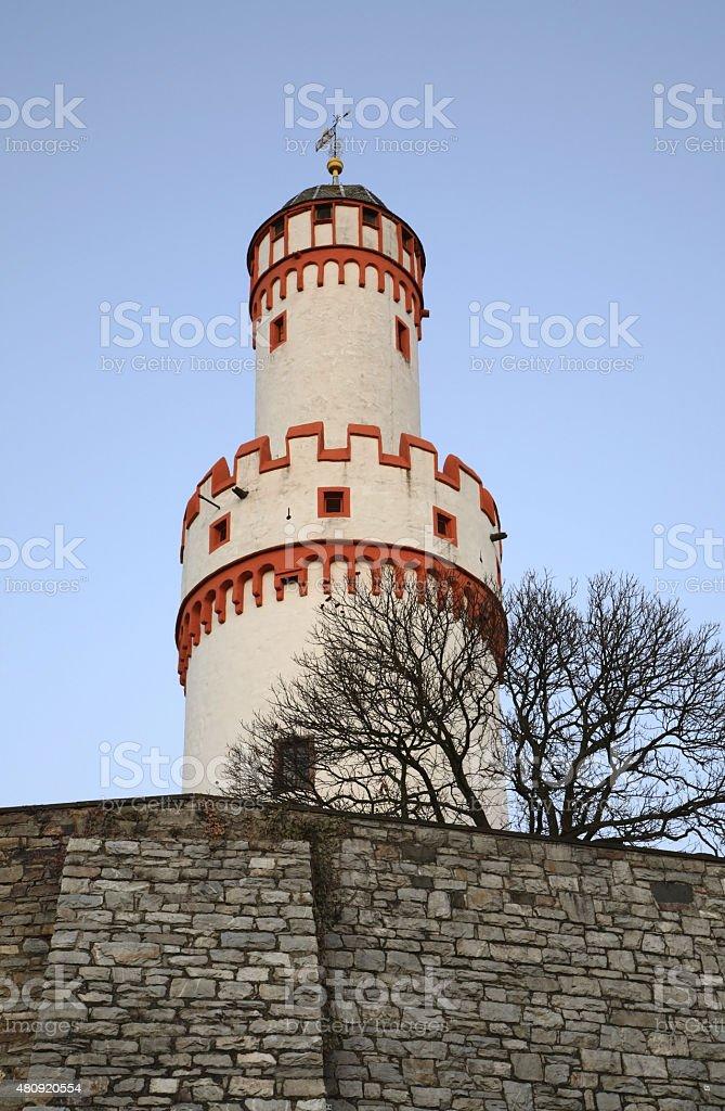 White Tower (Schlossturm) in Bad Homburg. Germany stock photo
