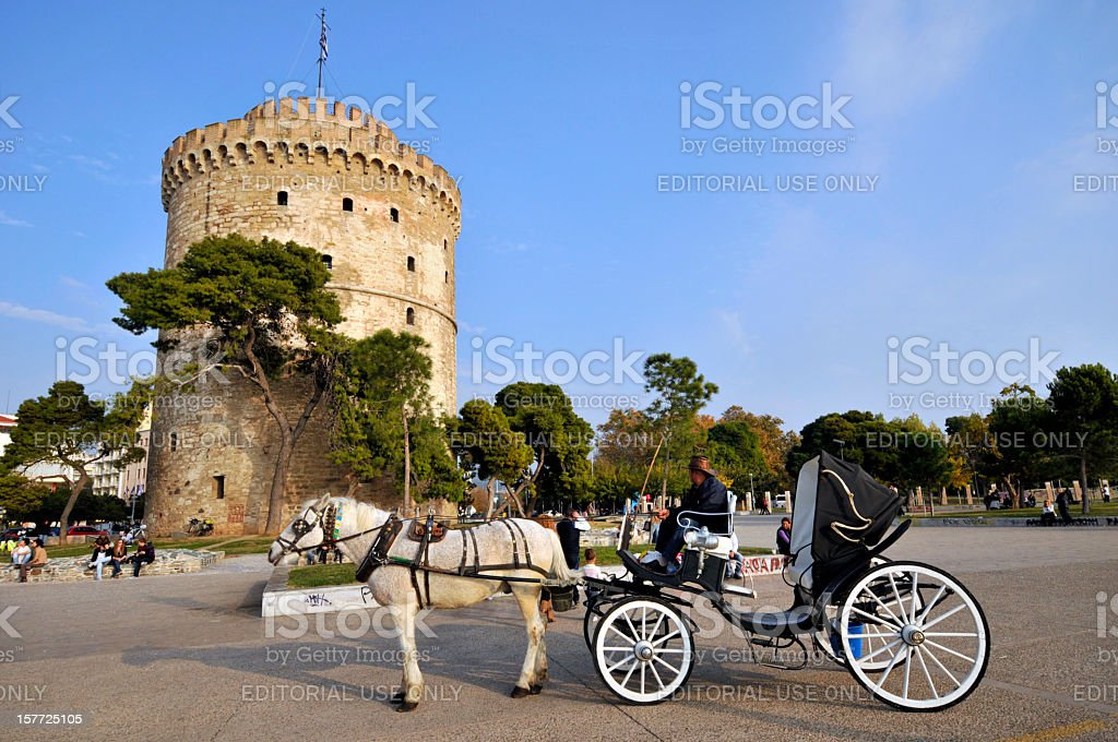White Tower of Thessealonika stock photo
