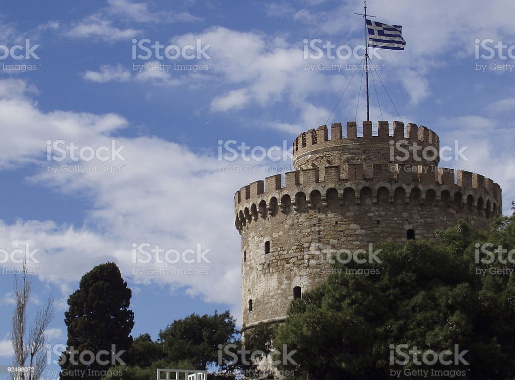 White tower stock photo