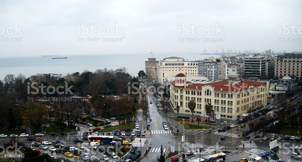 White Tower, Salonica, Greece stock photo