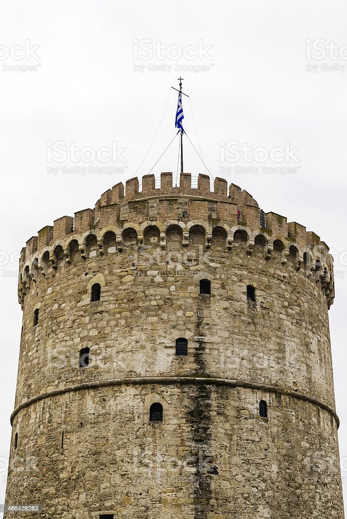 White tower ,Salonica royalty-free stock photo