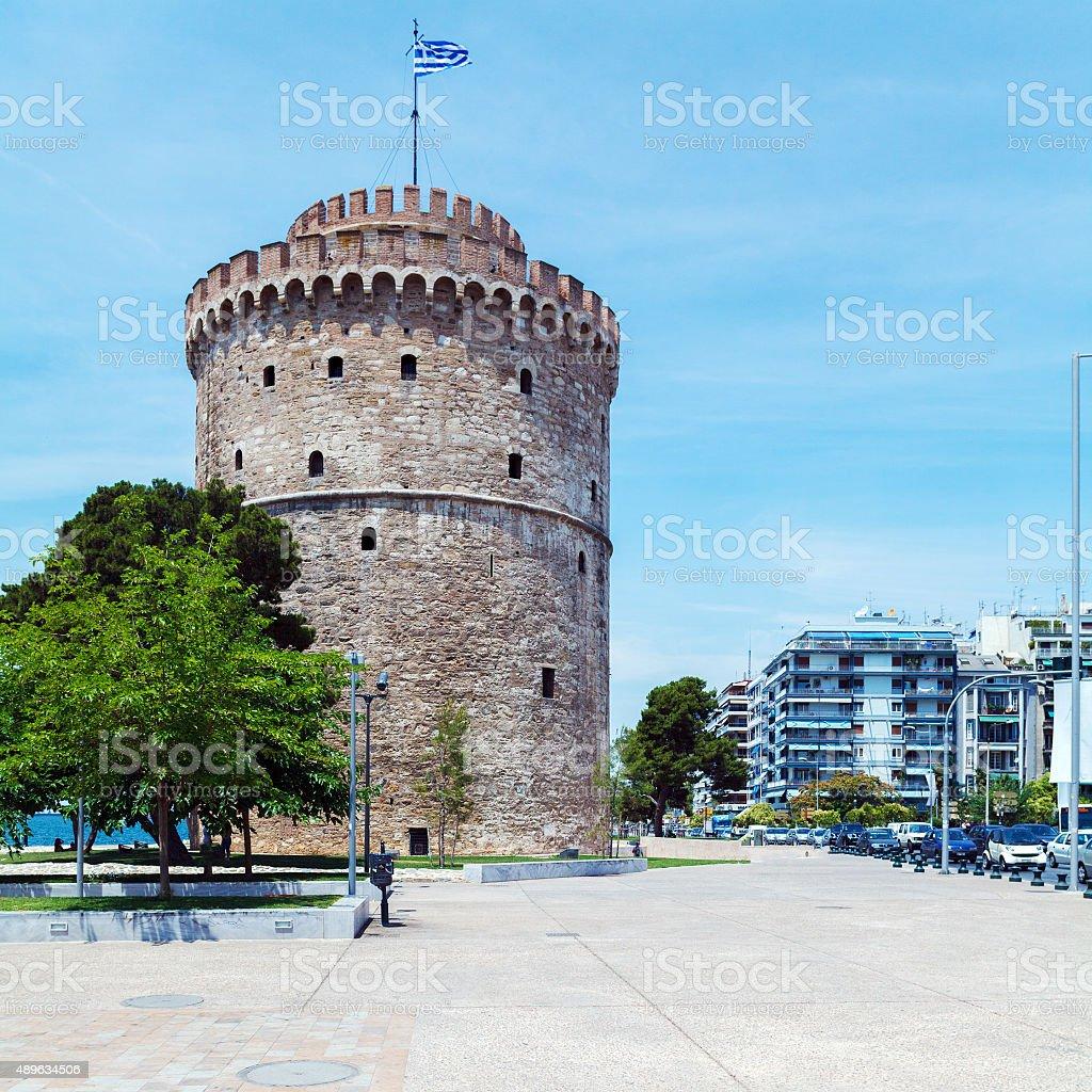 White Tower - Symbol of City, Thessaloniki stock photo