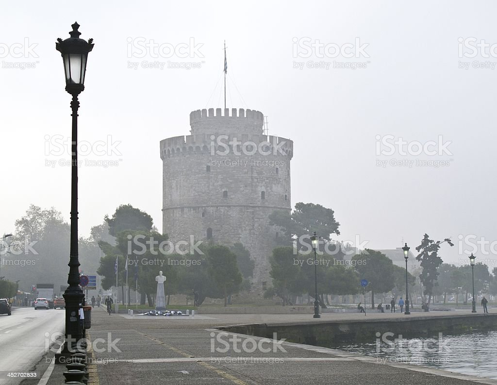 White tower Thessaloniki stock photo