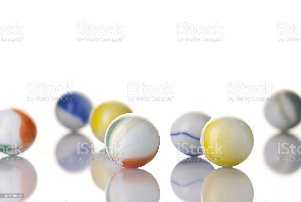 White Toy Marbles stock photo