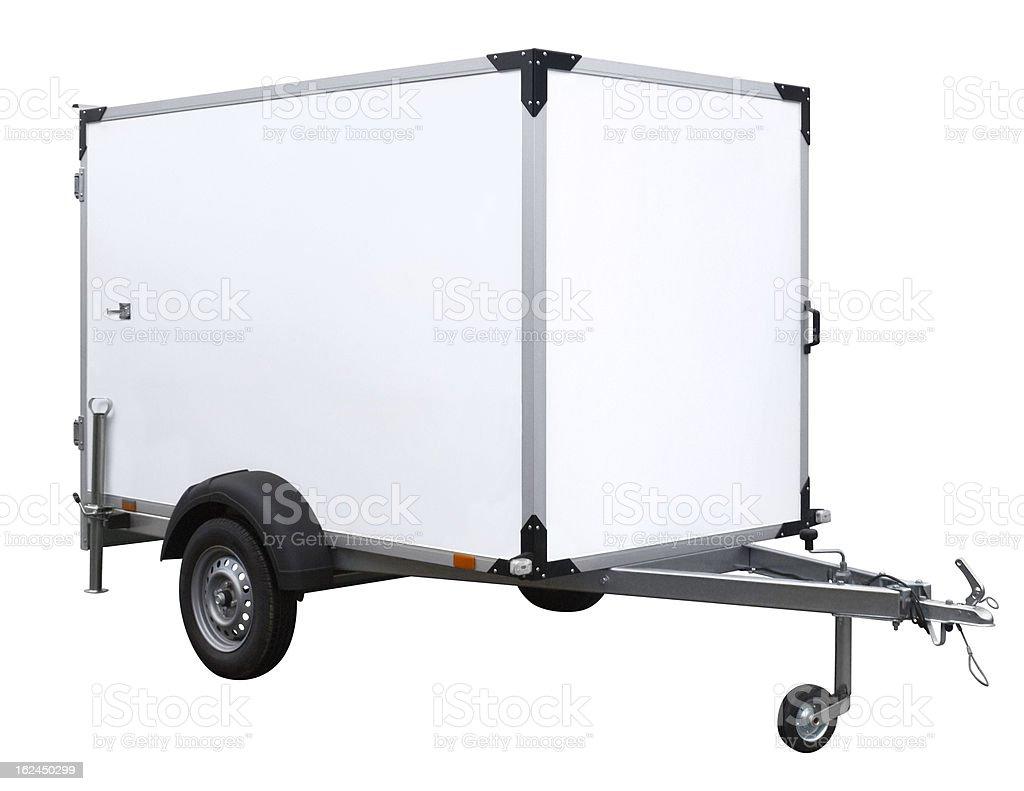 white trailer royalty-free stock photo