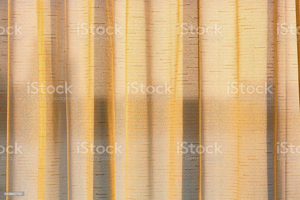 White transparent curtain stock photo