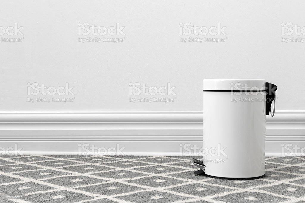 White trash can stock photo
