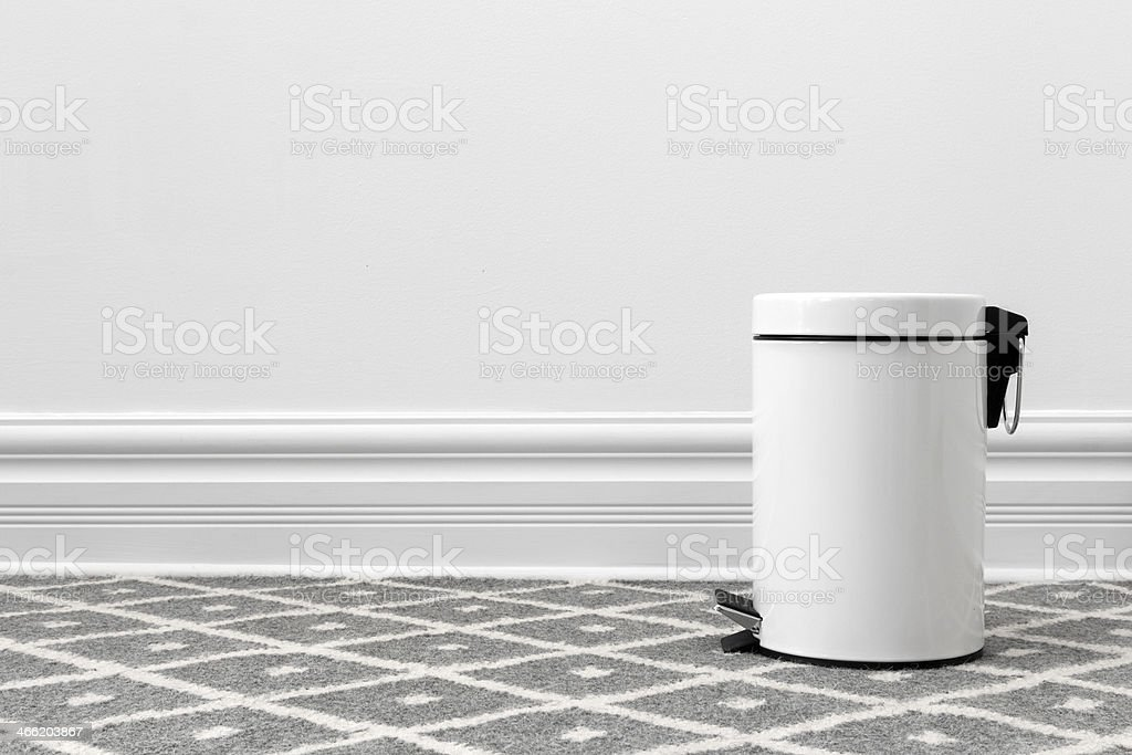 White trash can stock photo