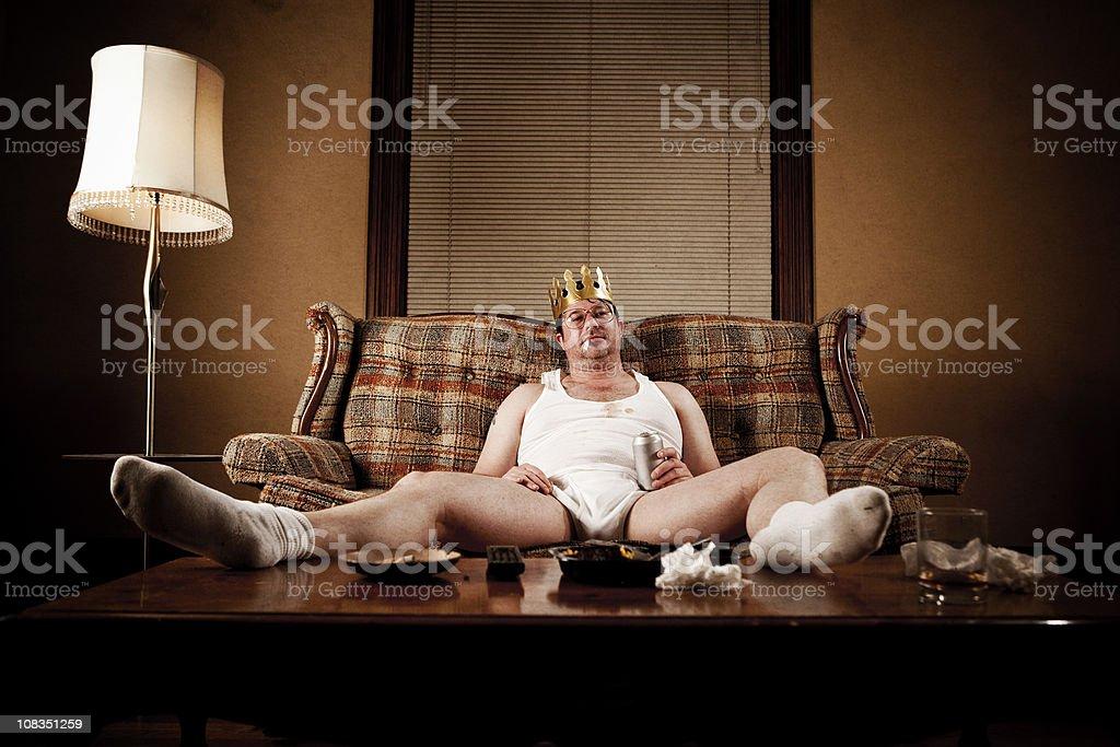 White Trash Series: King of his Castle stock photo