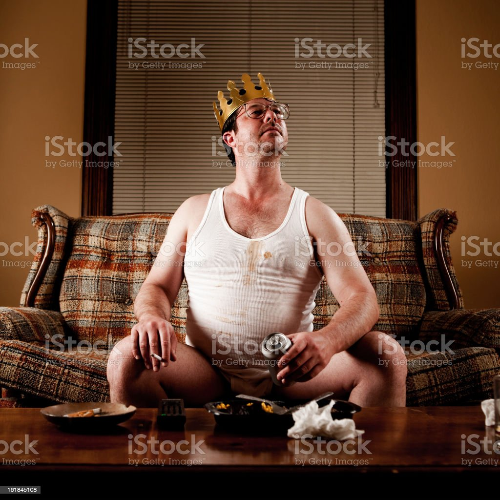 White Trash Series: King of his Castle royalty-free stock photo