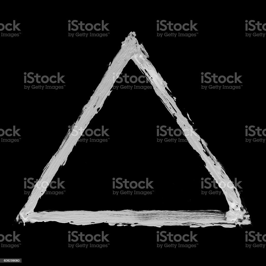 White triangle stock photo
