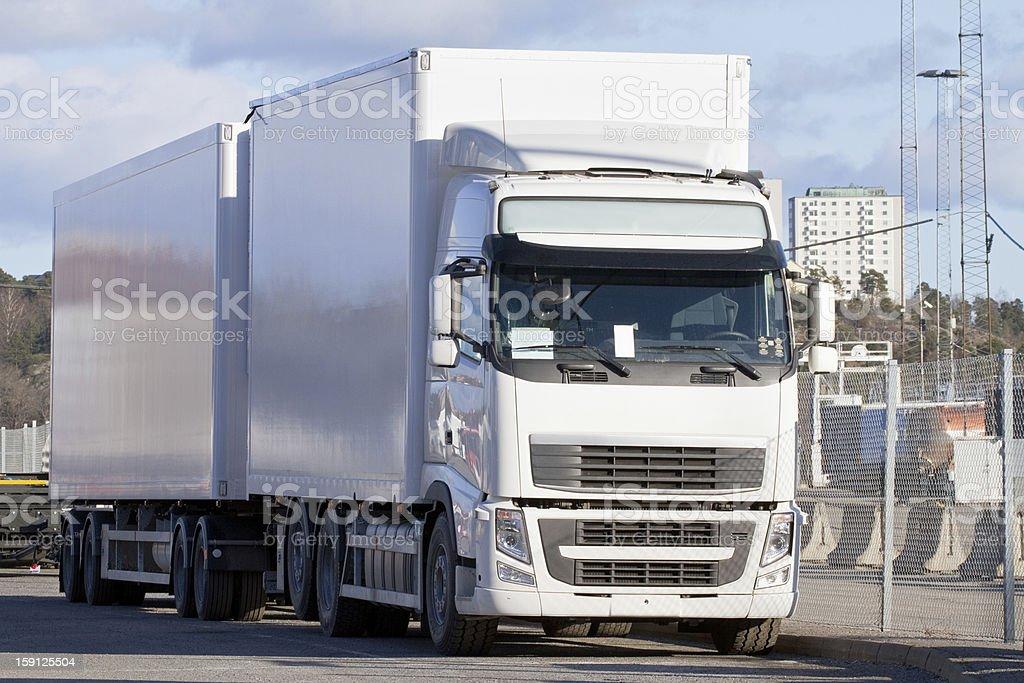 White truck. royalty-free stock photo
