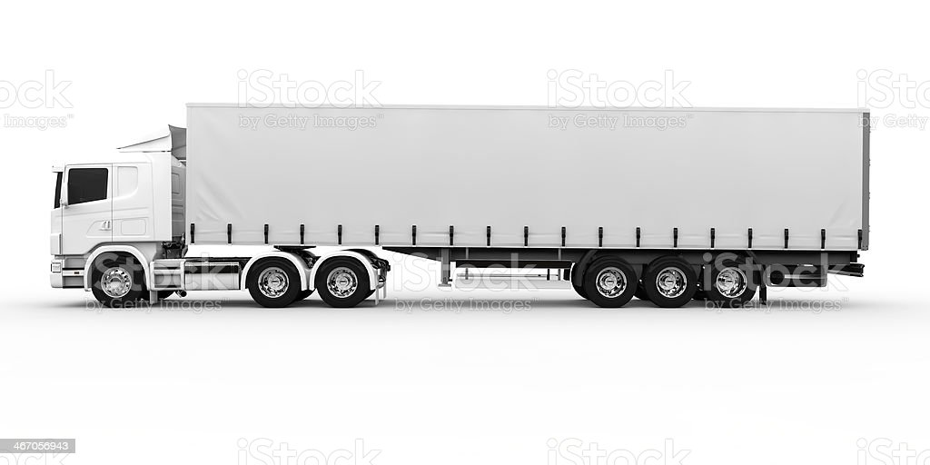 White truck stock photo