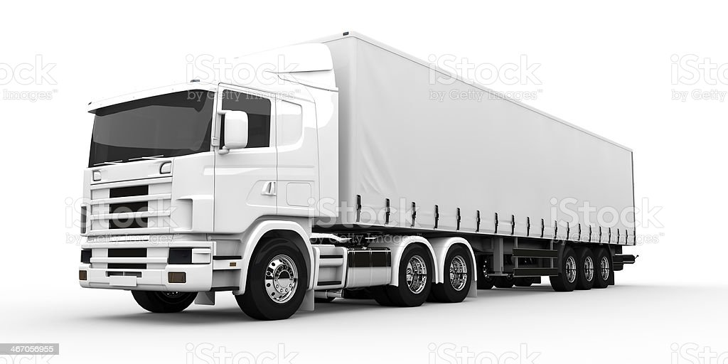 White truck stock photo