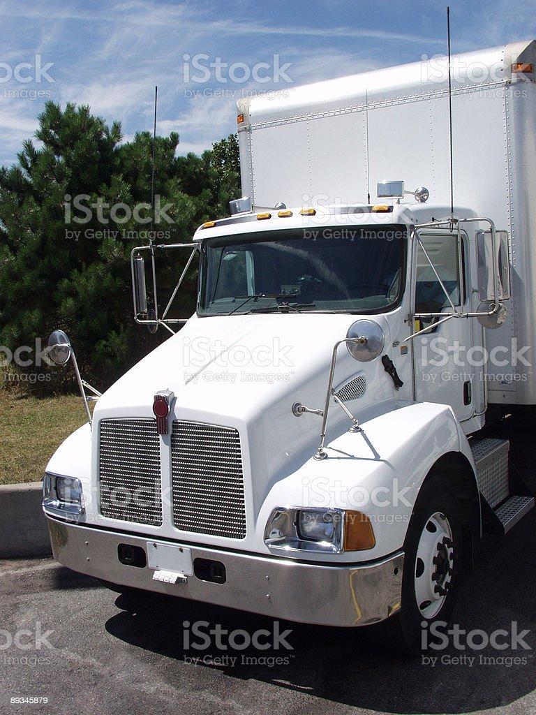 White Truck royalty-free stock photo