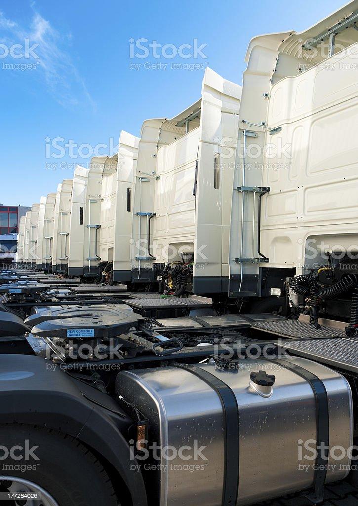 white trucks royalty-free stock photo