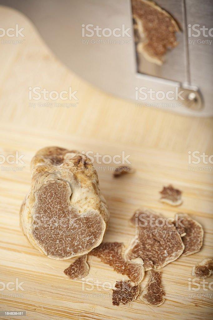 white truffle and slicer stock photo