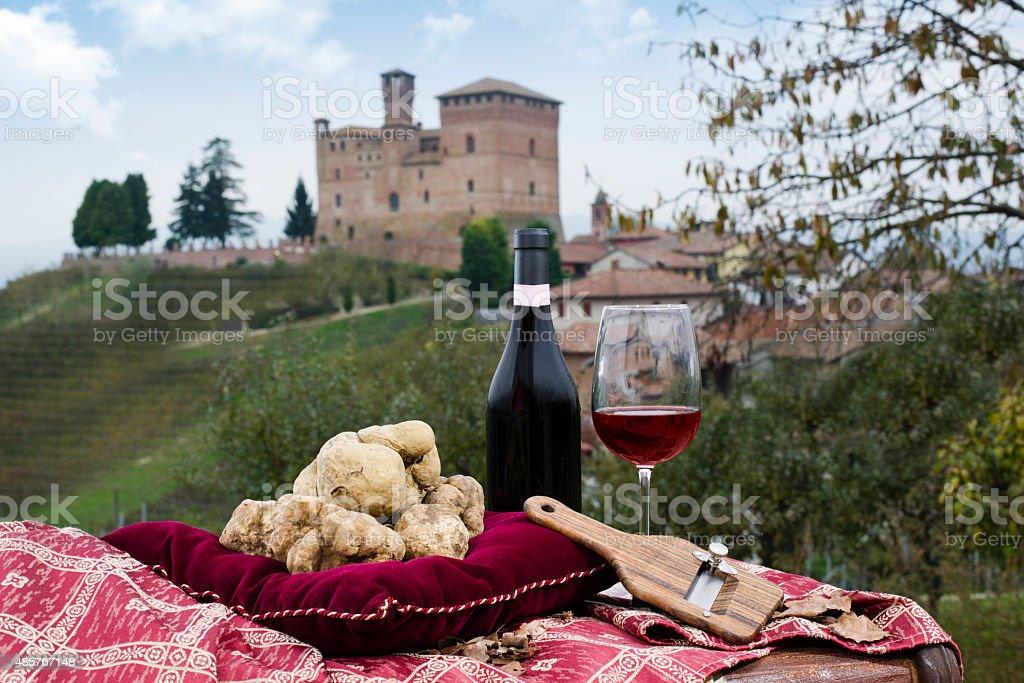White truffles from Piedmont Italy stock photo
