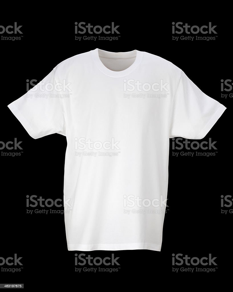 White T-Shirt /clipping path royalty-free stock photo
