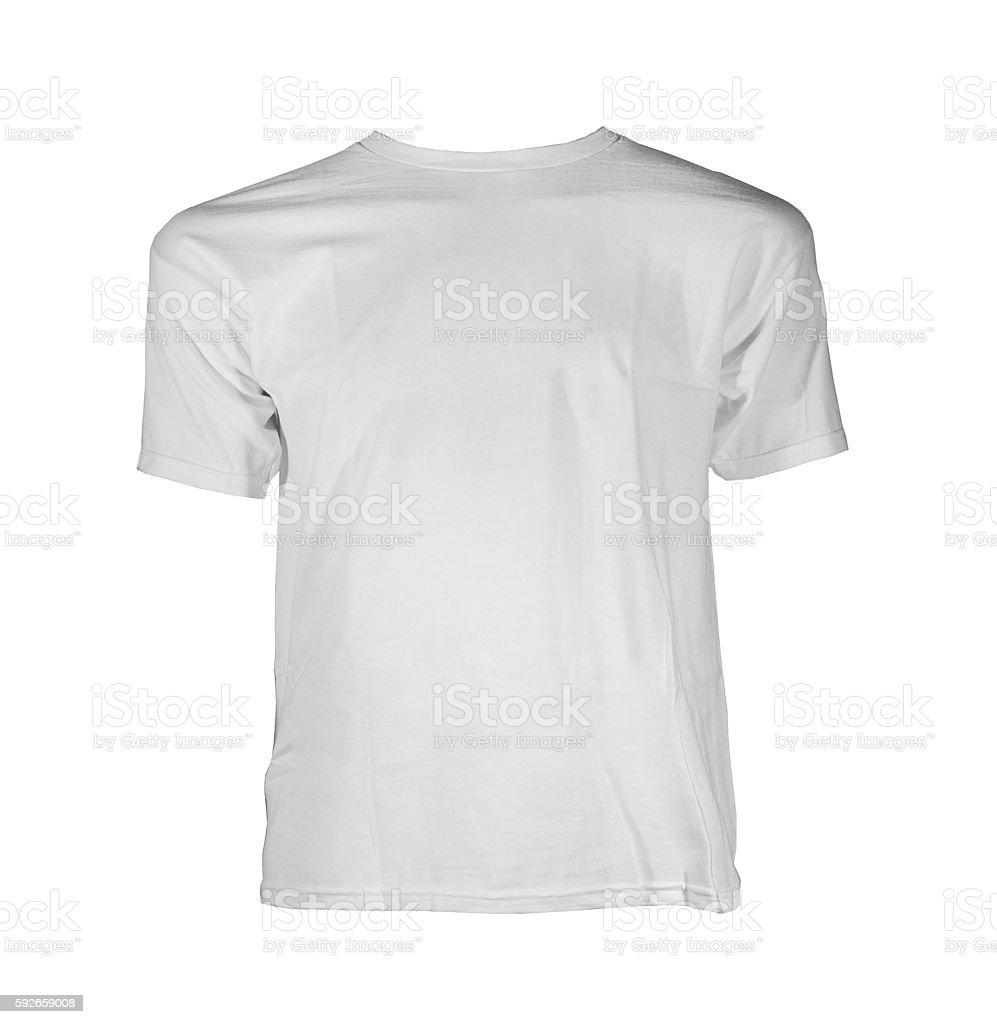 White T-Shirt isolated stock photo