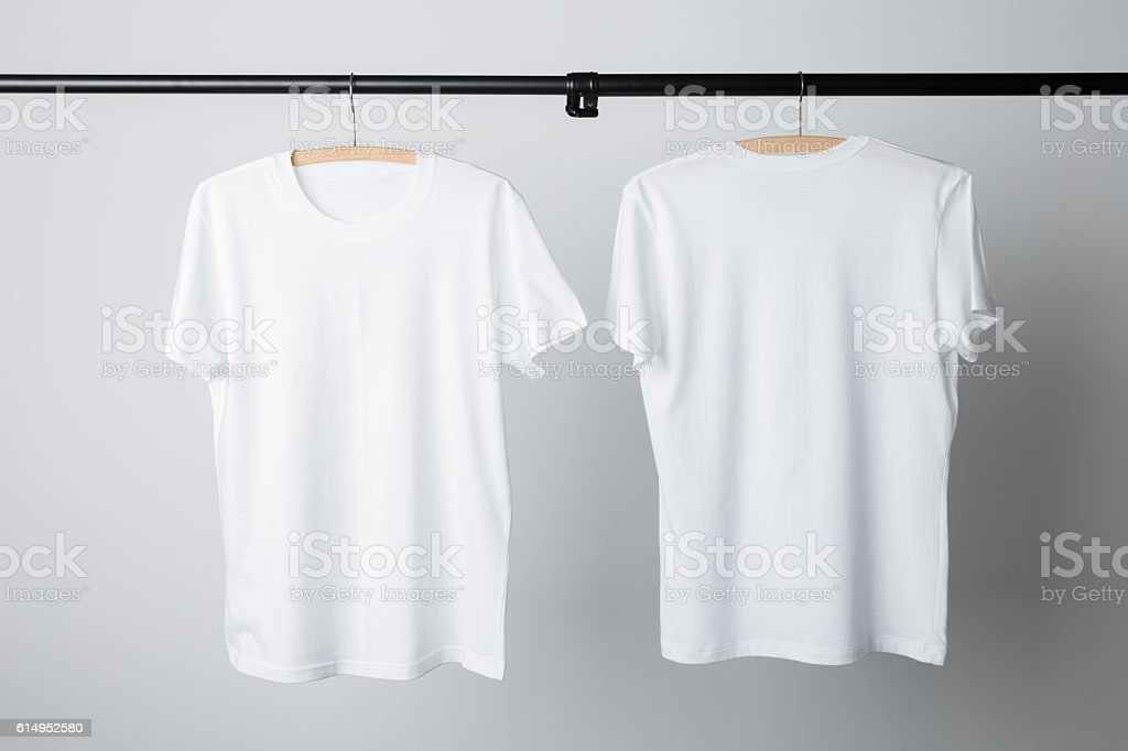 White T-Shirt Mock-up stock photo