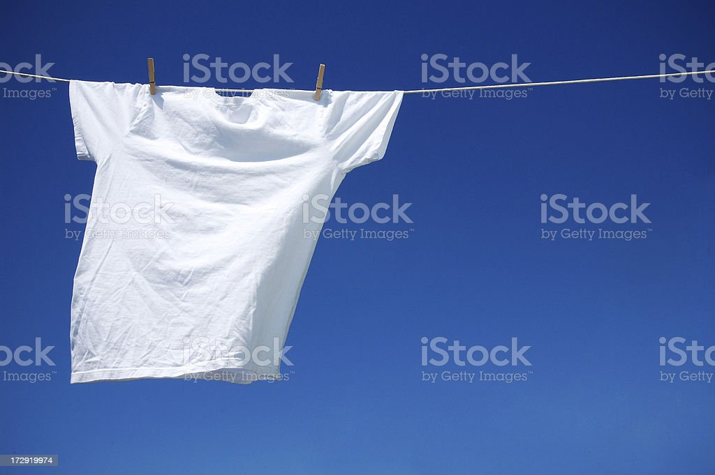 White T-Shirt stock photo