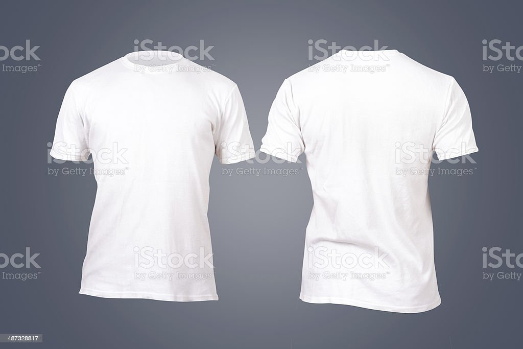 White Tshirt Template stock photo