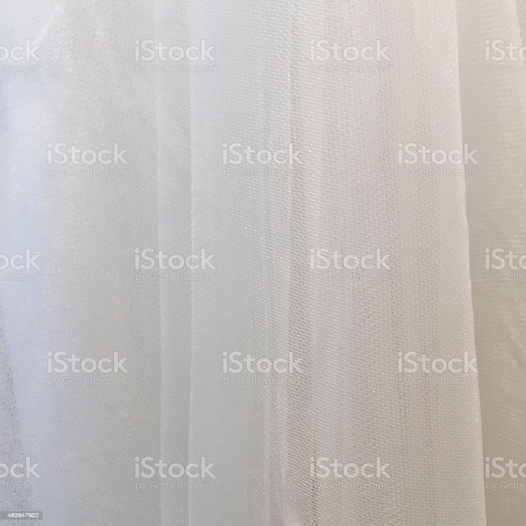 White Tulle Fabric stock photo