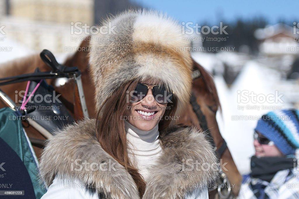 White Turf royalty-free stock photo