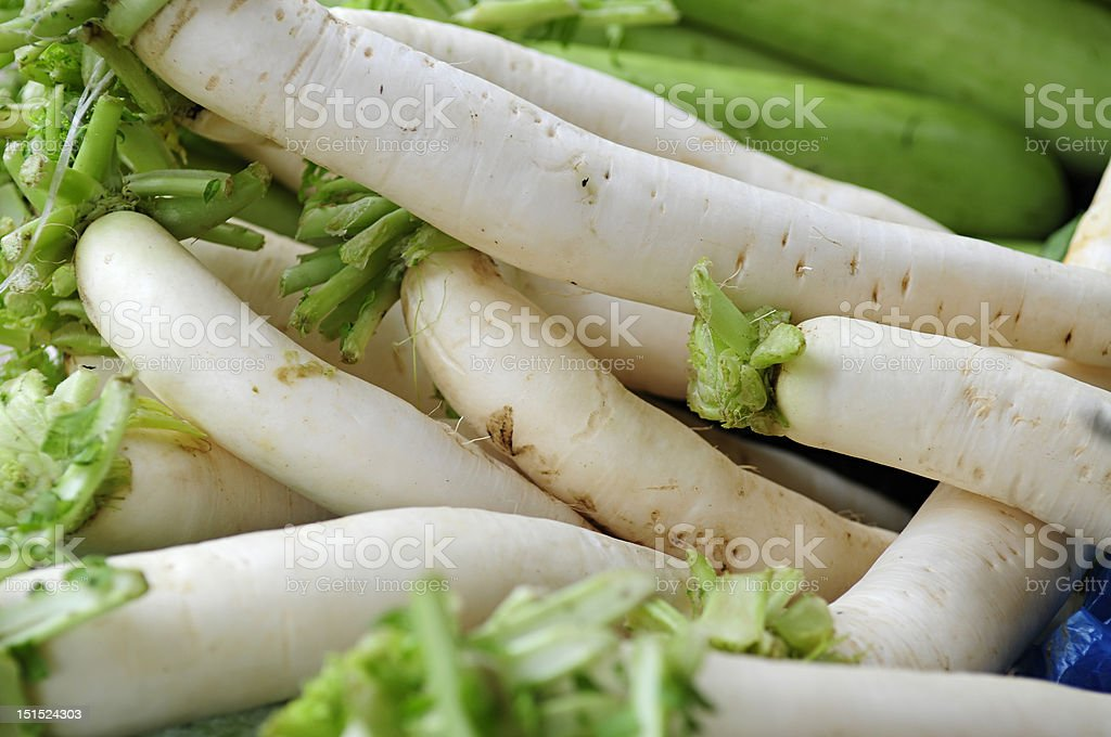 white turnips royalty-free stock photo