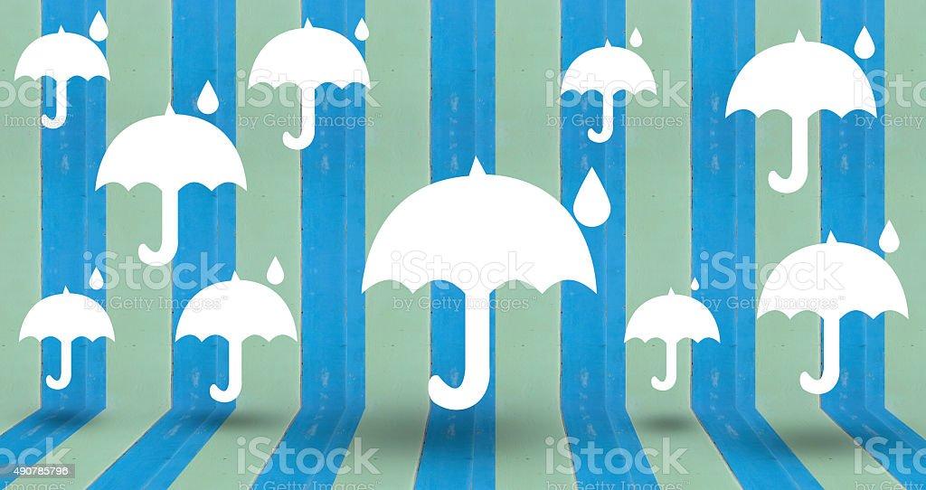 white umbrella on vintage wall royalty-free stock photo