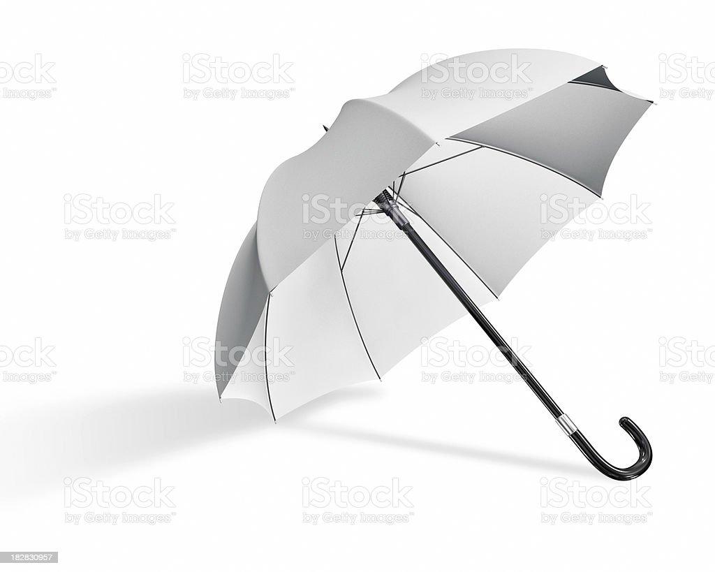White umbrella royalty-free stock photo